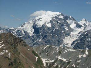 Monte Ortles seen from Piz Umbrail. Photo by Marco Borello, june 2003.