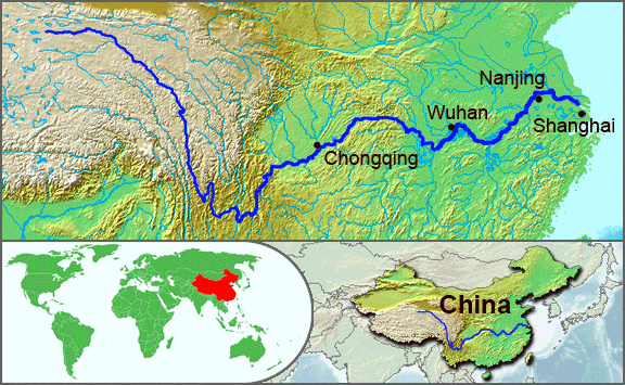 Map Of East Asia Yangtze River.Yangtze River Geology Page