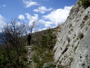 Fault scarps like this one in Italy's central Apennine Mountains have allowed researchers to understand how the lower crust, nine miles below, influences earthquakes. Credit: Joanna Faure Walker, University College London