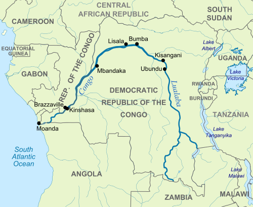 Map Of Congo River Congo River | Geology Page