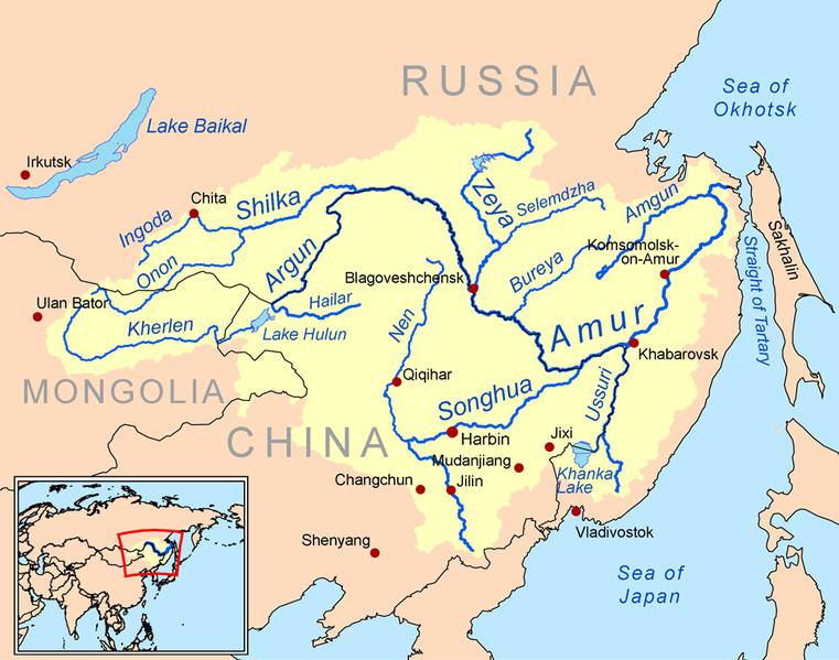 Amur River Map Amur River | Geology Page Amur River Map