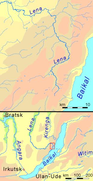Lena River Map Lena River | Geology Page Lena River Map