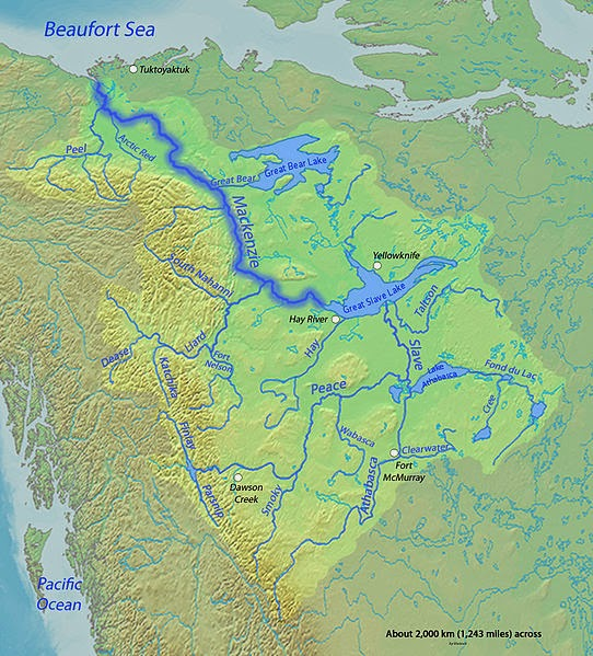 Where Is The Mackenzie River On A Map Of Canada Mackenzie River | Geology Page