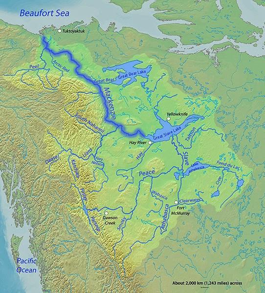 Mackenzie River Map Mackenzie River | Geology Page