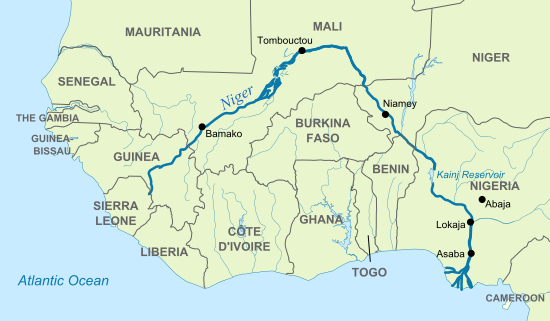 Niger River Map Niger River | Geology Page Niger River Map