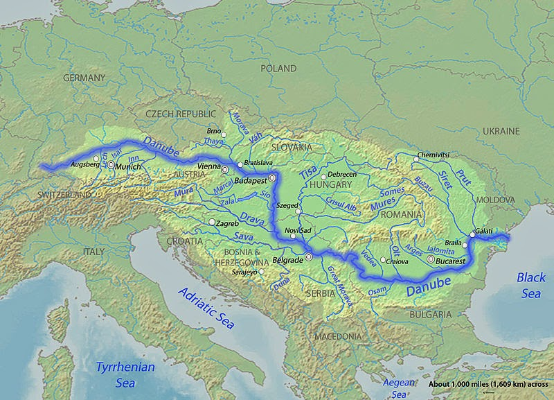 Danube River Map Danube River | Geology Page Danube River Map