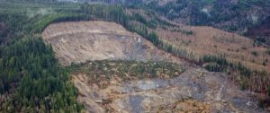 Aerial view, Oso landslide, Snohomish County, March 27, 2014 Photo by Jonathan Godt, Courtesy U.S. Geological Survey