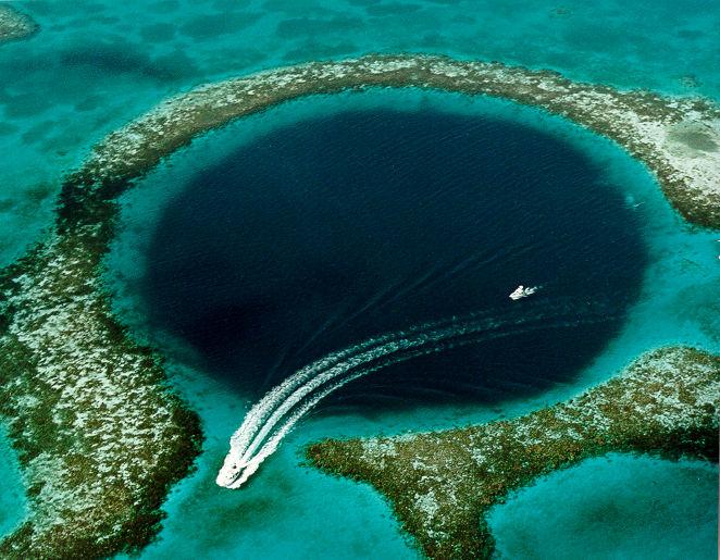 Great Blue Hole Coast Of Belize A Phenomenon Of Karst Topography Credit U S Geological Survey Usgs