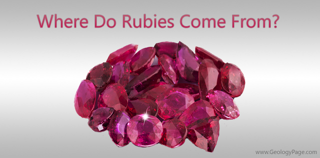 where do rubies come from geology page