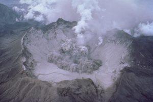 Volcanic eruption masked-GeologyPage