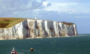 The White Cliffs of Dover have been a symbol of England at least since Roman times. New research is teaching scientists more about how this great structure came to be. Credit: Immanuel Giel, CC by 3.0 via Wikimedia Commons