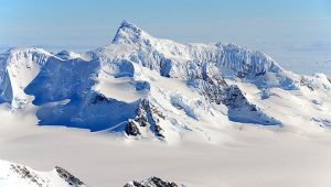 Antarctica's Alexander Island mountain range, snapped during a NASA research flight in October 2011. Credit: Michael Studinger, NASA.