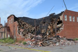 Representative Image: A collapsed building in Cushing, Oklahoma, after several 4.0-range quakes
