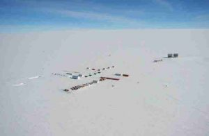 Researchers will survey a new site Little Dome C, which is located 50 kms away from the French-Italian station of Concordia, based at Dome C. Credit: British Antarctic Survey