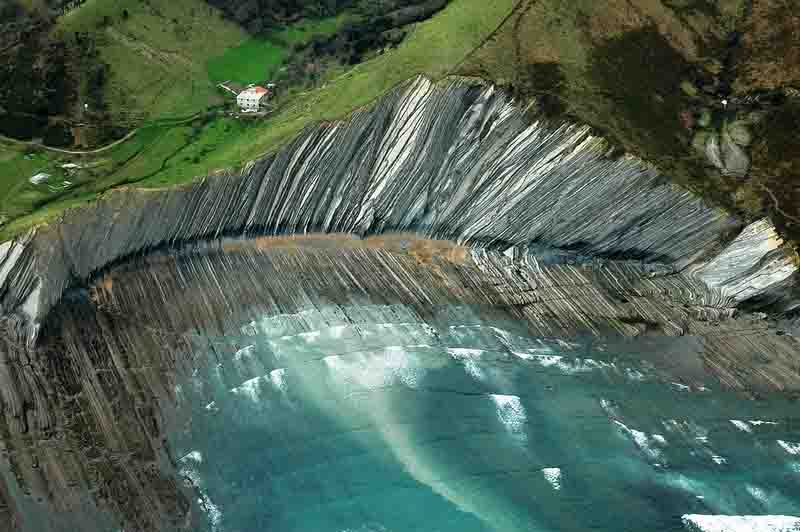 Flysch rock formation zumaia spain geology page for Piscinas naturales pais vasco