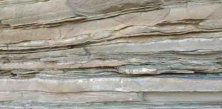 Sedimentary rock layers