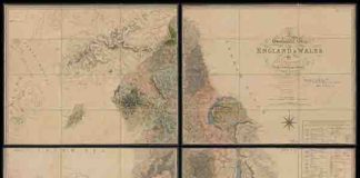 A Geological Map of England and Wales', 1819, George Bellas Greenough (1778-1855)