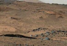 This image from NASA's Mars Curiosity rover shows the Amargosa Valley, on the slopes leading up to Mount Sharp on Mars