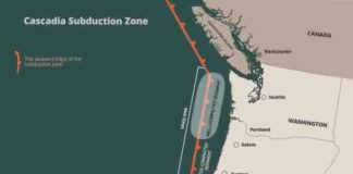 The Cascadia Subduction Zone is capable of generating powerful earthquakes.