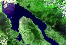 The Toba caldera was the site of a massive super-eruption 75,000 years ago.