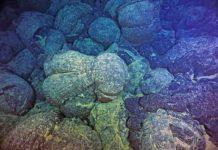 pillow basalts from undersea volcanic eruptions,
