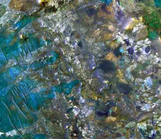 Diverse mineralogy exhumed from the Martian subsurface: A false color image from the HiRISE instrument aboard NASA's Mars Reconnaissance Orbiter shows amazing diversity of rocks exhumed from the Martian subsurface a meteor impact in the Nili Fossae area.