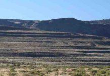 Erosional Pleistocene shorelines in Surprise Valley, California, USA.