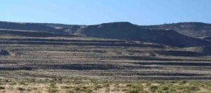 Erosional Pleistocene shorelines in Surprise Valley, California, USA.