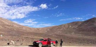 This is the sampling site Lomas Bayas in the core region of the Atacama.