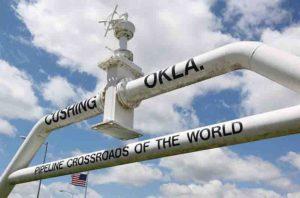 Pipeline monument, Cushing, Oklahoma.