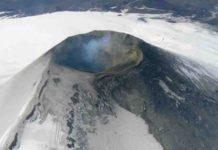 Aerial view of Villarica volcano.