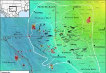 This new map of Earth's stress field in the Permian Basin of West Texas and southeastern New Mexico could help energy companies avoid causing earthquakes associated with oil extraction. Credit: Jens-Erik Lund Snee