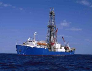 On its current expedition, the drillship JOIDES Resolution is working off the coast of New Zealand.