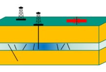 Model of a plant with one or several boreholes.