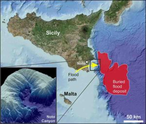 """Localization and geometry of the """"Unit 2"""" corresponding to the sediment body originated by the Zanclean mega flood."""
