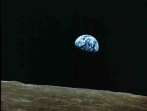 Earth taken by the Apollo 8 astronauts on Dec. 22, 1968
