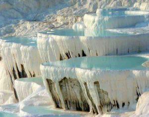 Travertine Hot Springs at Pamukkale, Turkey