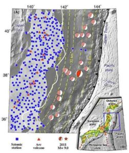 Distribution of 382 seismic stations used in this study.