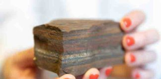 Ancient tiger eye BIF (banded iron formation)