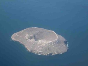 The island of Daphne to the north of Santa Cruz
