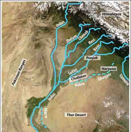 The Indus civilization was the largest—but least known—of the first great urban cultures that also included Egypt and Mesopotamia. Named for one of their largest cities, the Harappans relied on river floods to fuel their agricultural surpluses. Today, numerous remains of the Harappan settlements are located in a vast desert region far from any flowing river.