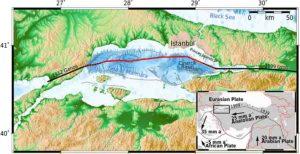 Illustration of the North Anatolian fault zone
