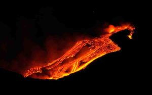 Mount Etna Eruption on Jan. 12, 2011.