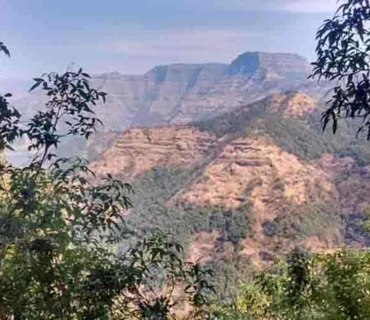 Layered lava flows within the Wai Subgroup from near Ambenali Ghat, Western Ghats.