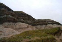 Badlands near Drumheller, Alberta