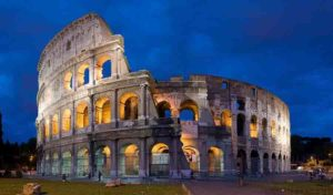 Roman monuments, including the Colosseum