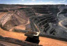 Open cut hard rock mining, Kalgoorlie, Western Australia.
