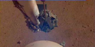 InSight's seismometer was taken on the 110th Martian day, or sol, of the mission.