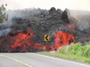 June 2018 flow from Kilauea Volcano's lower east Rift Zone.