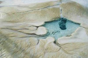 New research focuses on filamentous microbes that make their living in hot springs and catalyze the formation of travertine rock.